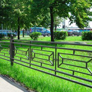 ограждение газонов парк