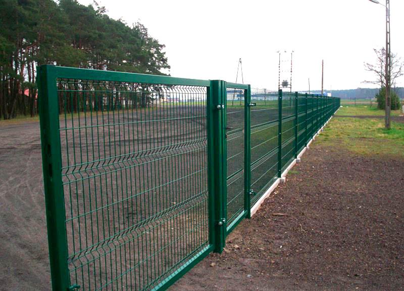 3д забор установка
